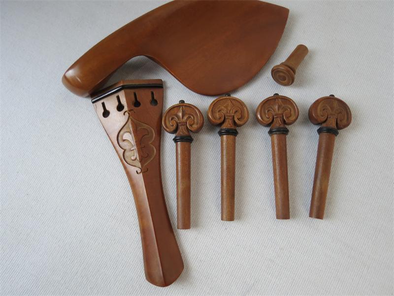 2sets 4 4 violin carved parts,trevlig Jujube parts,fine workmanship