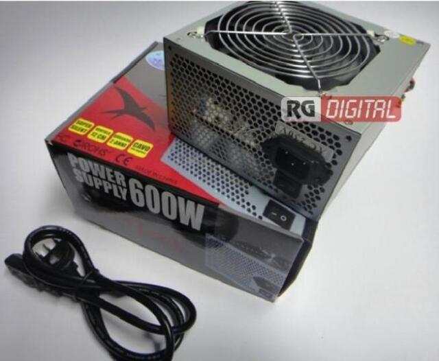 ALIMENTATORE PC 600W ATX VENTOLA 12cm ON/OFF Retail 3X SATA 2X IDE MOLEX GS-600R