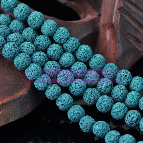 Lot Bulk 8mm Natural Volcanic Lava Rock Gemstone Round Spacer Loose Stone Beads