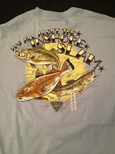 NWT Columbia PFG UV SUN PROTECTION 15 T-Shirt ITS ALL ABOUT THE INSHORE SLAM  L