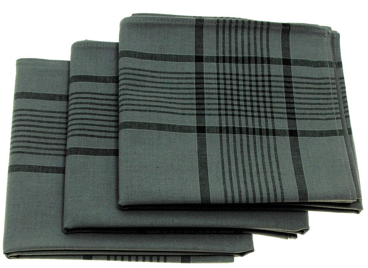 MFH Cotton Handkerchief Size 50 x 50 cm 3 ER Pack Cotton Fabric Handkerchiefs