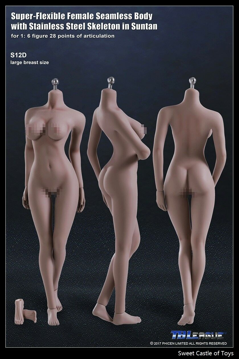 1/6 TBLeague Female Seamless Body Suntan Large Bust S12D w/Steel Skeleton Phicen