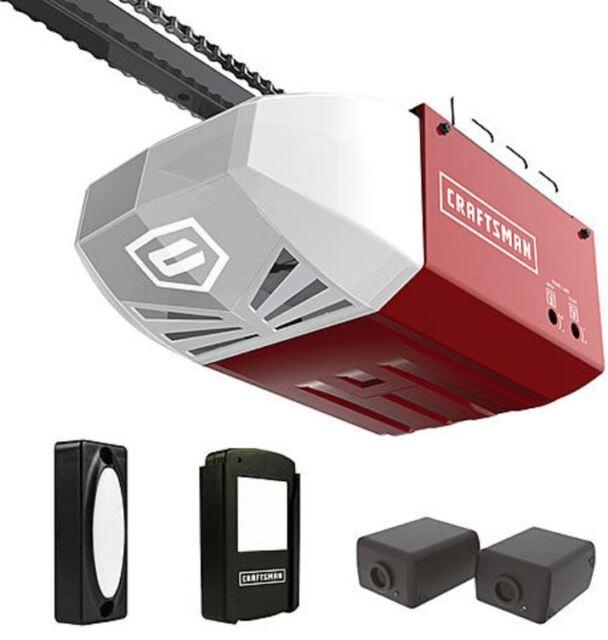 craftsman door opener. Craftsman 1/2 HP Chain Cable Drive Garage Door Opener AC Series 100 Remote Rail .