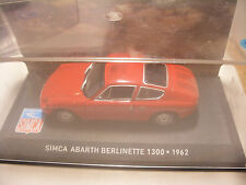 voiture 1/43 eme IXO ALTAYA SIMCA ABARTH BERLINETTE 1300 1962