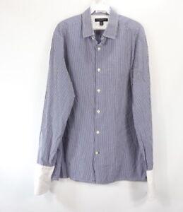 Banana-Republic-Mens-Large-French-Cuff-Dress-Shirt-Contonficio-Albini-Shirt