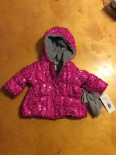 6110899aa7ff  70 first impressions baby pink jacket with faux fur trim 3-6 months M18