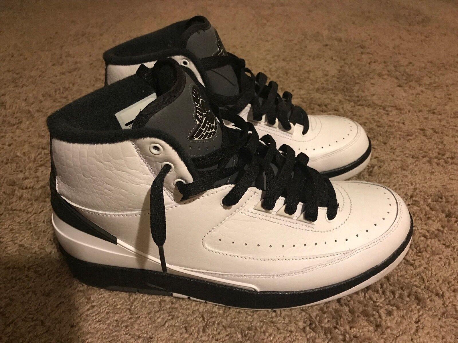 Nike Air Jordan 2 II Retro 'Wing it' White Black Size 9.5