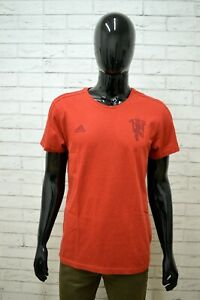 Dettagli su Maglia Uomo ADIDAS Taglia Size L Shirt Polo Maglietta Shirt Cotone Rossa Man