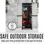 thumbnail 3 - Outdoor Adjustable Storage Cabinet Cupboard Patio Weatherproof Lockable Plastic