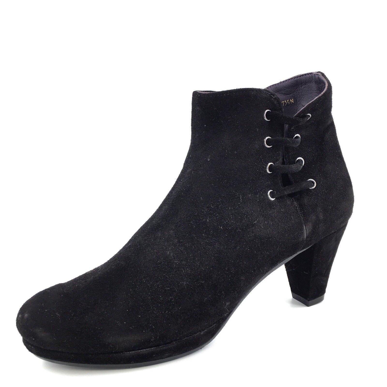 VANELI    Lavis  Negro Gamuza Cremallera botas al tobillo para mujer Talla 7.5 N   tienda