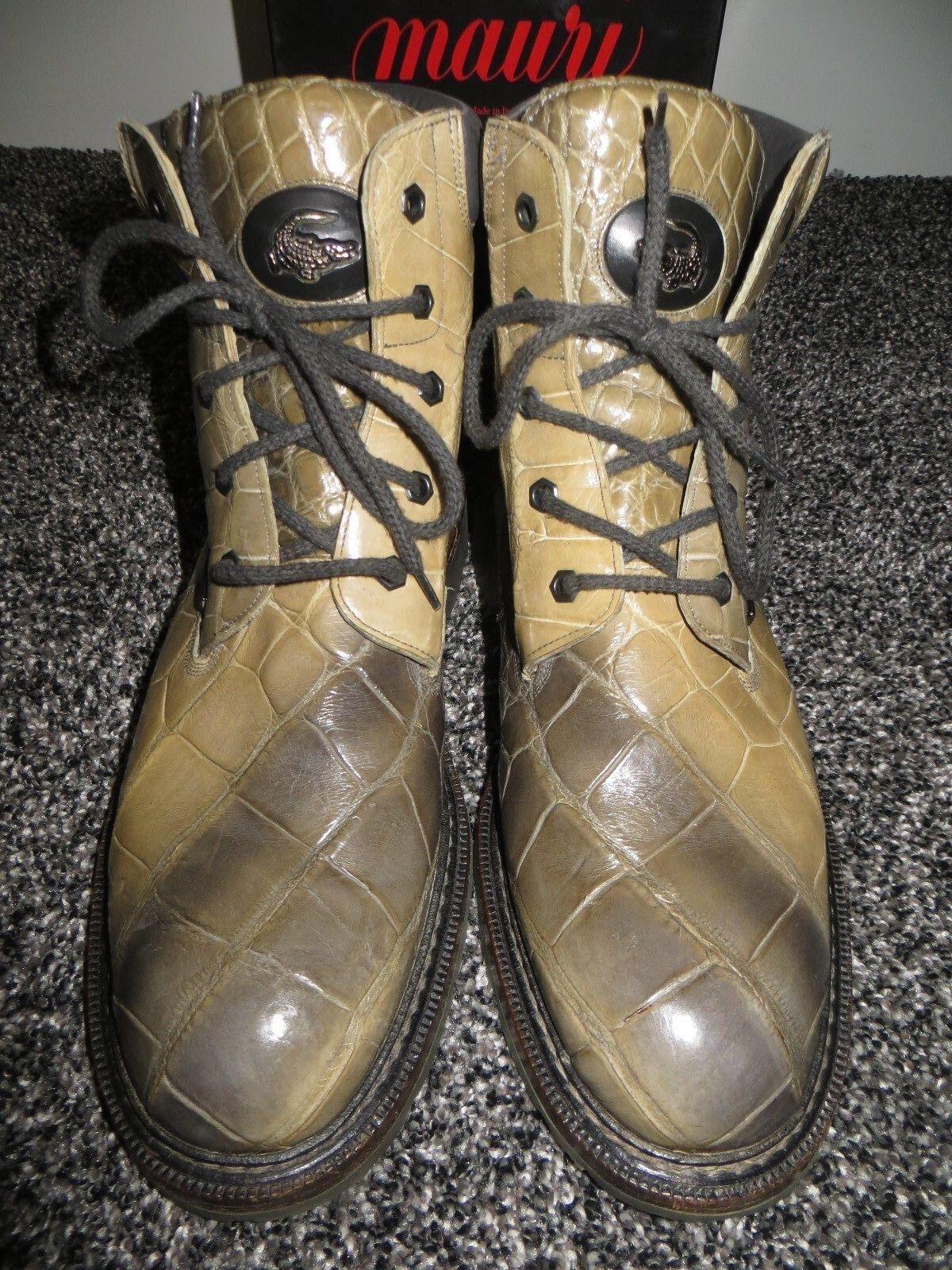 Mauri Italia Para hombres Camuflaje todos Cocodrilo De Combate Militar botas 10.5