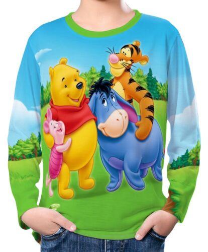 Winnie The Pooh Bear Kinder Jungen Langarm T-Shirt wc2 ael30184