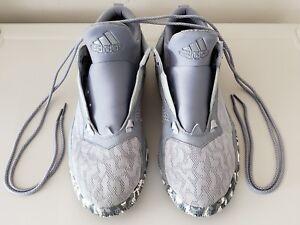 buy popular 2039d 240c2 Image is loading Adidas-Damian-D-Lillard-2-Grey-Bounce-Basketball-