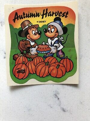 Vintage Fall Mickey And Minnie Stickers 2
