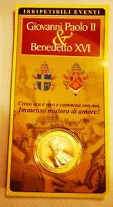 MEDAGLIA-RELIGIOSA-VATICANO-PAPA-GIOVANNI-PAOLO-II-BENEDETTO-XVI-fdc-nuova