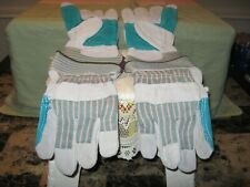 Cow Split Leather Reinforced Palm Glove Size Lg Sold As A Lot Of 2