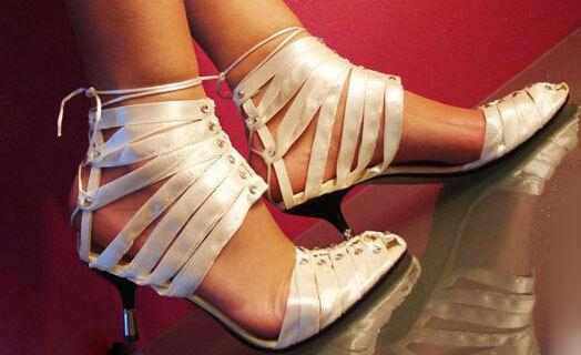 I. WENDEL Luxus Sandaletten Ausgefallen Abendschuhe Gr 35 OVP   717 Creme