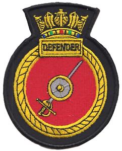 HMS Defender Royal Navy RN Surface Fleet Crest MOD Embroidered Patch