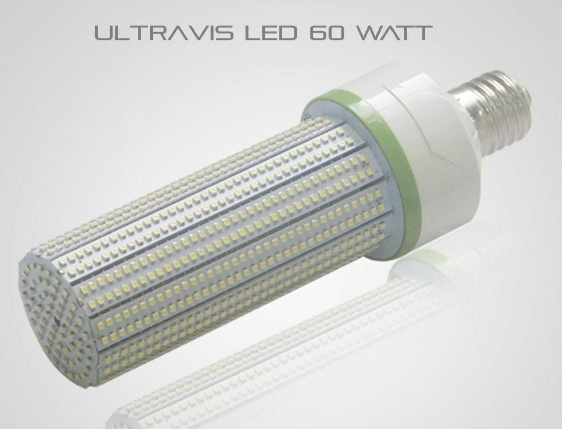 UltraVis LED 60W High Bay Indoor Retrofit Corn Light, 5K Daylight, E26, UL