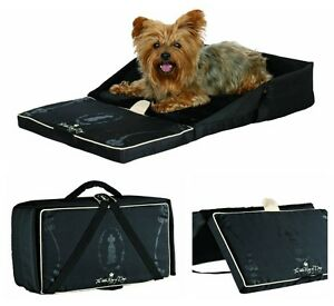 Travel Dog Bed >> Details About Small Dog Travel Bed Pack Away Small Dog Bed With Carry Handle By King Of Dogs