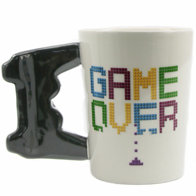 Coffee Mug Cup Game Over 3d Controller Handle Gaming Novelty Gift