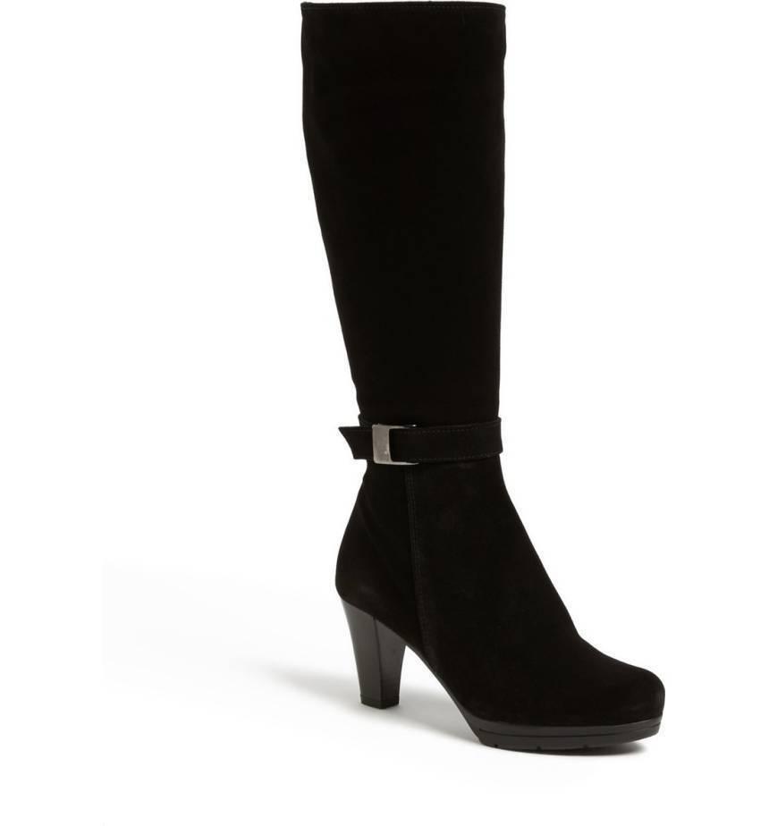 450 La Canadienne Womens Merin Knee Zip Boots WATERPROOF Black 11 NEW IN BOX