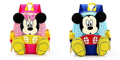 Contemplativo Mochila Escolar 3d Mickey Mouse Minnie Niño Niña Colegio Increible Calidad