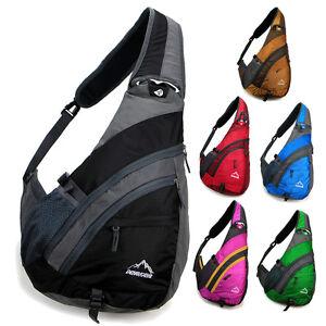 New Men women Messenger Shoulder bag sling sport Travel Chest bag ...