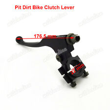 Pair 22mm Silver Bar Brake Clutch Lever For 110cc 125 140 160cc Pit Dirt Bike