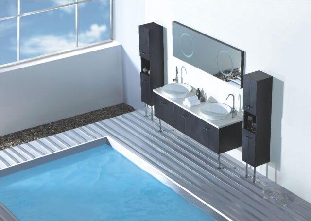 84 In Modern Double Sink Bathroom Vanity Set In White Id 4119327 For Sale Online Ebay