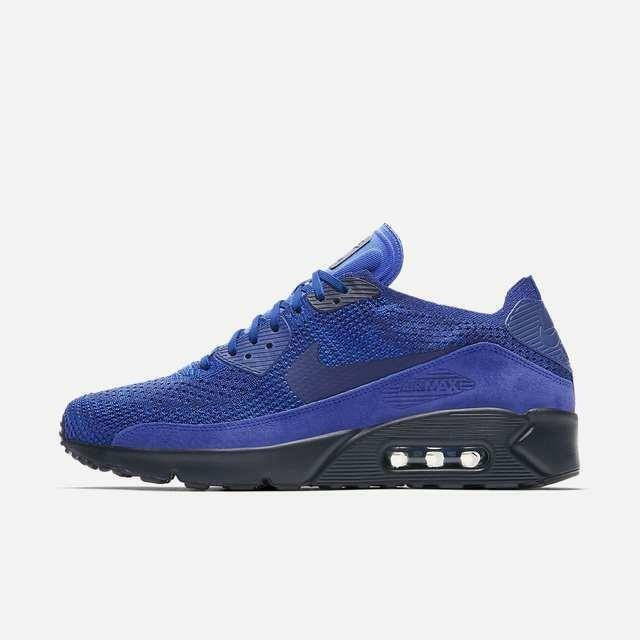 NIKE AIR MAX 90 ULTRA 2.0 FLYKNIT 875943 402 RACER BLUE/COLLEGE NAVY/DEEP ROYAL Comfortable and good-looking