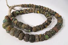 Strang alte Hebronperlen 68cm Old African Kano Trade beads Afrozip