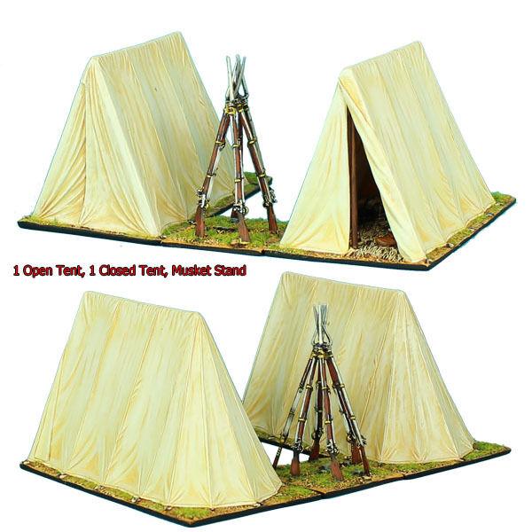 First Legion  NAP0417 Napoleons öppna Tent, stängd Tent, och Musket stå