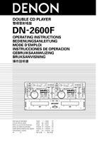 Denon Dn-2600f Cd Player Owners Manual
