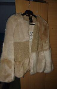 namaakbont jas prijs beige gepatched dames 79 korte Zara £ 99 Oorspronkelijke F1twpX