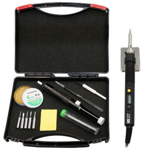 Adjustable Soldering Iron Kit Portable Welding Gun Rework Station DIY Tool Box