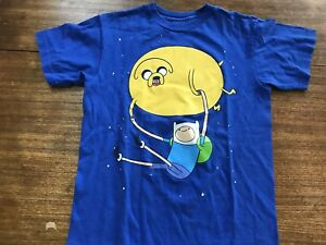 XL Cartoon Network Youth Adventure Time Jake Finn Heck Yea Shirt New S L