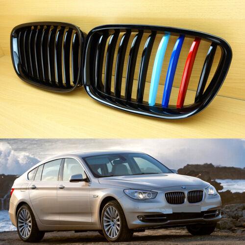 M-Color Shiny Black Front Hood Grille Kidney For BMW F07 5-Series GT 2010-2017