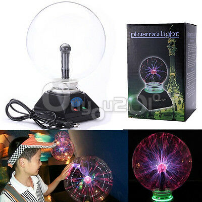 Magica Lámpara Bola Rayos Plasma Ball Electrostatic Crystal Sphere LUZ USB Globo