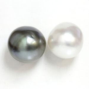 Image Is Loading Tahitian Amp South Sea Baroque Pearl Stud Earrings