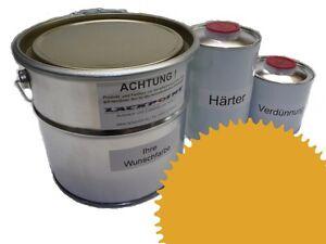 1,5 Liter Set 2K Floor Coating Ral 1032 Yellow Shine Floor Color Workshop New