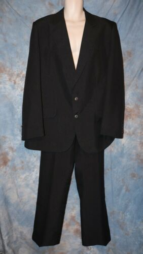 Mens Black Tregos Western Suit Jacket Blazer Size