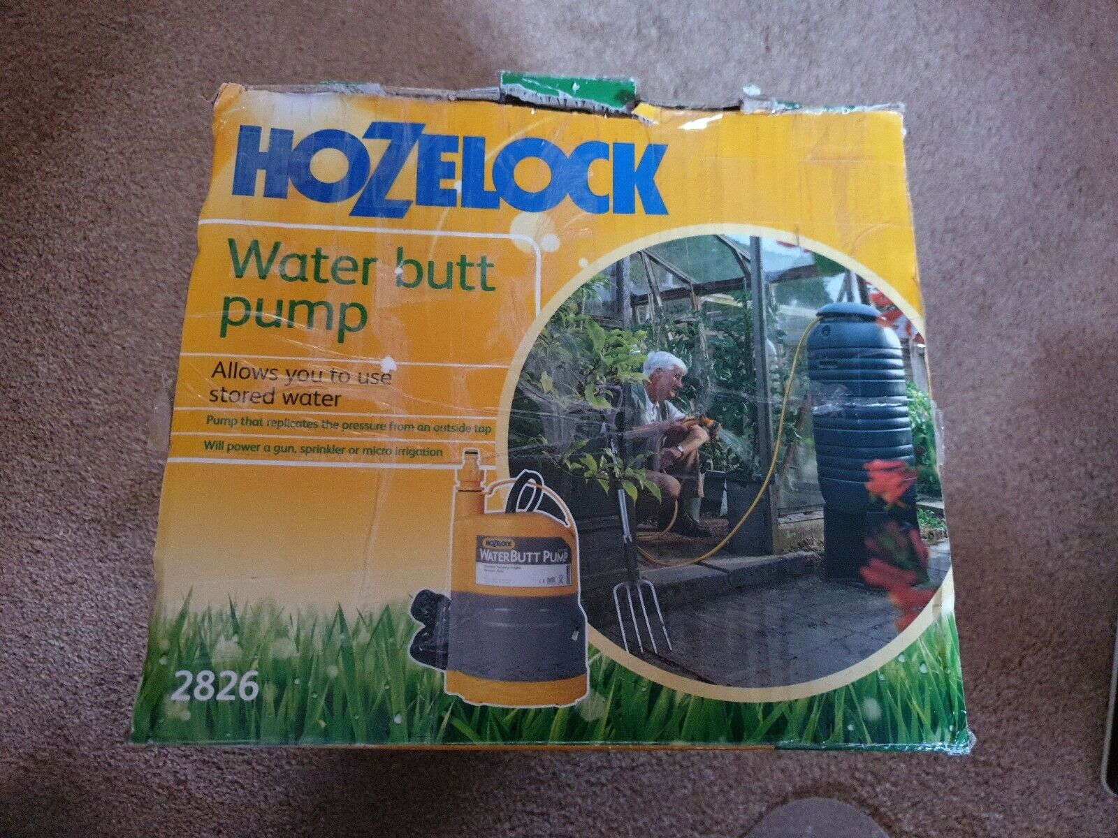 hozelock water butt pump 2826 16Psi new in box never used since purchase