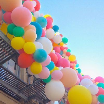 """10/"""" 100 Large PLAIN BALONS BALLON helium Balloon Birthday balloon Wedding baloon"""