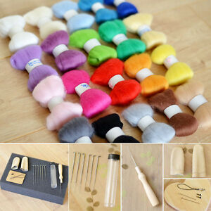 Needle-Felting-Starter-Kit-100g-Premium-Australian-Wool-Needles-Felt-Mat-Tool