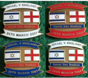 Israel-v-England-2008-Euro-Qualifier-Tel-Aviv-24-March-2007-Pin-Badge
