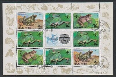 1992 Frösche & Kröten Kleinbogen Sg N3194/9 Letzter Stil Korea Cto