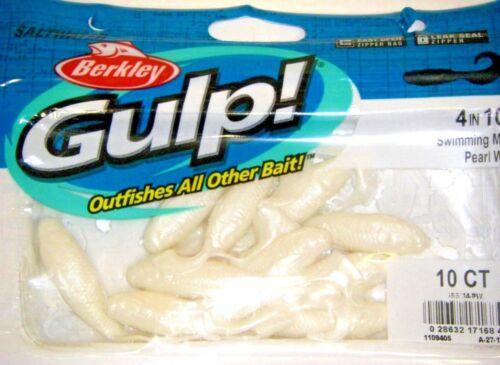 Berkley Gulp! Saltwater Fishing Lure 4 Swimming Mullet Pearl White GSSM4-PW