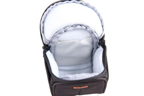 Hombro Cintura Cámara Bolsa De Nylon Negro Para Panasonic LUMIX DMC G6 GF6 GH3 GH2