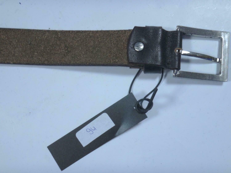 00094 - Gürtel braun / dunkelbraun Only men LEDER   Länge: 85cm Breite: 3,6cm
